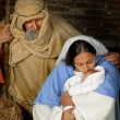 Christmas holy family — Stock Photo