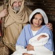 Stock Photo: Nativity Joseph and Mary