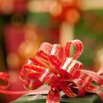 Christmas ribbons and lights — Stock Photo #13568711
