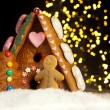 Gingerbread house and men - Stock Photo