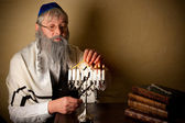 Lighting for hannukah — Stock Photo