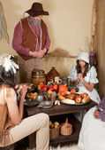 Thanksgiving pilgrims — Stock Photo