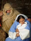 Christmas holy family — Stock Photo