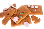 Gingerbread house components — Stock Photo