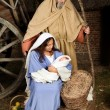 Live nativity scene — Stock Photo