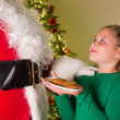 Stock Photo: Cookies for santa claus