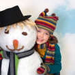 Royalty-Free Stock Photo: Loving the snowman
