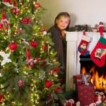 Noel evde — Stok fotoğraf