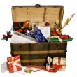 Christmas chest — Stock Photo