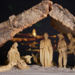 Manger by night — Stock Photo