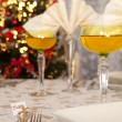 Christmas table in gold 7 - Stock Photo