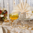 Royalty-Free Stock Photo: Christmas table in gold 1