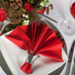 Festive table in red and white 5 — Stock Photo