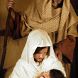 Joseph Mary and Jesus - Stock Photo