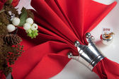 Festive table in red and white 11 — Stock Photo
