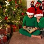 Reading christmas stories — Stock Photo #13784789