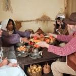 Thanksgiving pilgrim food — Stock Photo