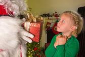 Santa present — Stock Photo