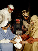 Nativity with wisemen — Stock Photo