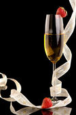 New Year champagne — Stock Photo