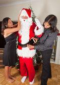 Santa giyiniyor — Stok fotoğraf