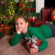 Christmas gift for a girl - Stok fotoraf