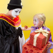 Small and big presents for clowns — Stock Photo