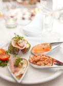 Fancy appetizers — Stock Photo