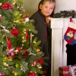 Stock Photo: Girl posing with christmas