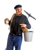 New Year chimney sweep — Stock Photo