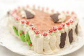 Decorated ice-cream cake — Stock Photo