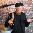 Chimney sweep with horseshoe - Stock Photo