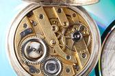 Open antique pocket watch — Stock Photo