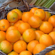 Stock Photo: Fresh oranges in basket