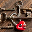 Royalty-Free Stock Photo: Valentine keys and padlock heart