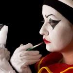 Pierrot make-up — Stock Photo