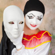 Pierrot mask — Stock Photo