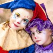 Cute clown girls — Stockfoto