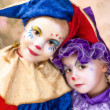 Cute clown girls — Foto Stock