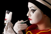 Pierrot make-up — Stock Photo