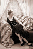 Twenties lady — Foto de Stock