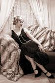 Twenties lady — Stock Photo