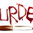 Murder and dagger - Stock Photo