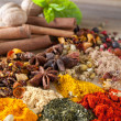 Stock Photo: Herbs spices and teas