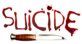 Suicide and blood — Stock Photo
