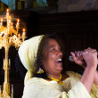 Stock Photo: Happy gospel singer