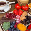 Stock Photo: Lunch with antioxidants