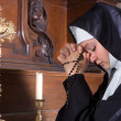Novice in prayer — Stockfoto