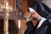 Novice in prayer — Stock Photo