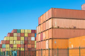 Stacked containers — Stock Photo